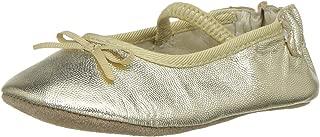 Robeez Girls' Ballet Flat - First Kicks Crib Shoe Blush 0-3 Months