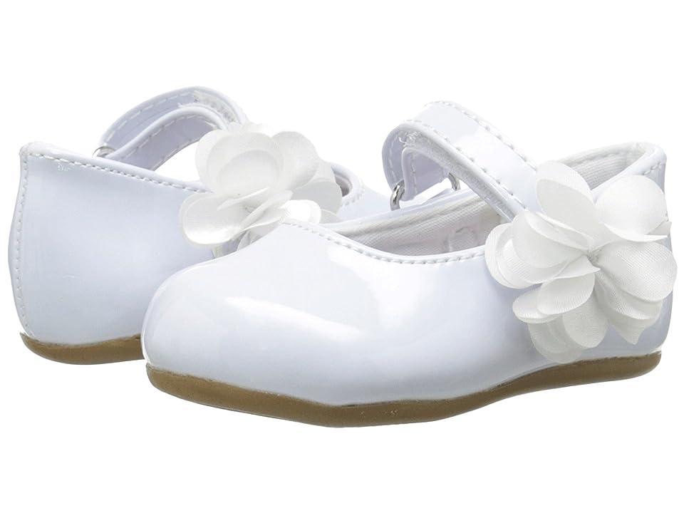 Baby Deer Patent Skimmer Walker Sole (Infant/Toddler) (White) Girls Shoes