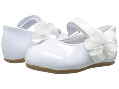 Baby Deer Patent Skimmer Walker Sole (Infant/Toddler) (White) Girls Shoes