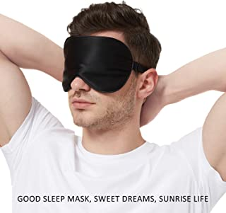 100% Silk Sleep Mask for A Full Night's Sleep | Comfortable & Super Soft Eye Mask with Adjustable Strap | Works with Every...