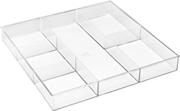 Whitmor 6-Section Drawer Organizer - Clear
