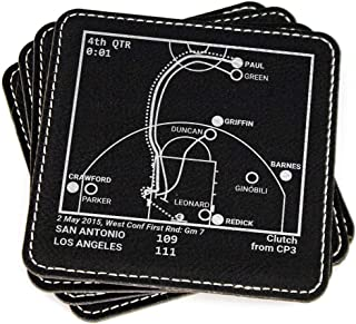 Greatest Clippers Plays - Leatherette Coasters (Set of 4)