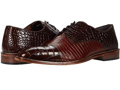 Stacy Adams Talarico Leather Sole Cap Toe Oxford (Brown/Cognac) Men