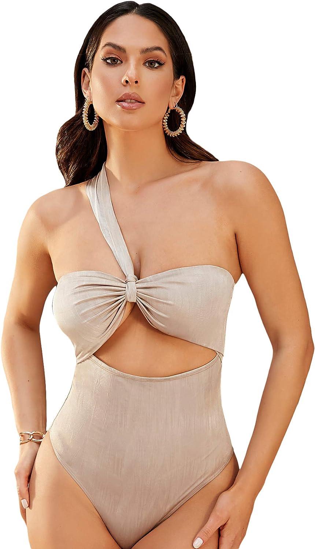 SweatyRocks Women's V Neck Spaghetti Strap Cutout Cami Bodysuit