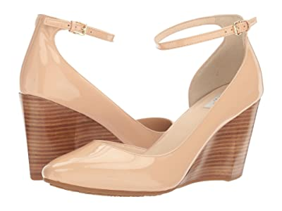 Cole Haan Lacey Ankle Strap Wedge 85mm (Nude Patent) Women