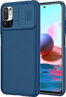 جراب CamShield لهاتف Xiaomi Redmi Note 10 5G مع حامي عدسة الكاميرا المنزلقة، غطاء صلب مضاد لبصمات الأصابع مع مقبض غير لامع...