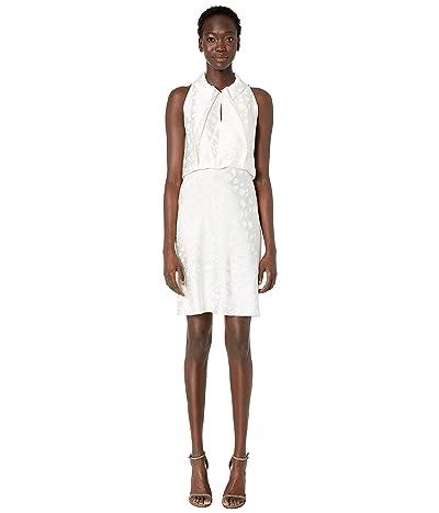 Zac Posen Satin Back Crepe Dress (Off-White) Women