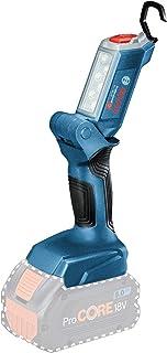 System profesjonalny 18 V firmy Bosch: lampa akumulatorowa LED GLI 18V-300 (maks. jasność 300 lm, bez akumulatorów i ładow...