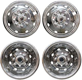 Deebior 4pcs 19.5 Stainless Steel Polished Wheel Simulators Front+Rear Dually 10 Lug Hub Caps Skins Liners Rim Covers w//Installation Set Compatible With 2008-2020 Ram 4500//5500