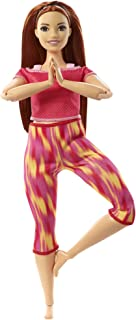 Barbie Made to Move Doll, Curvy, with 22 Flexible Joints & Long Straight Red Hair Wearing Athleisure-wear for Kids 3 to 7...