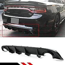 Fits for 2015-2019 Dodge Charger SRT STX Hellcat Scat R/T Re-Design New Shark Fin Rear Bumper Diffuser Valance