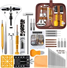Watch Repair Kit, E·Durable Professional Spring Bar Tool Set 149 in 1 Watch Battery Replacement Tool Kit with Mannual and ...