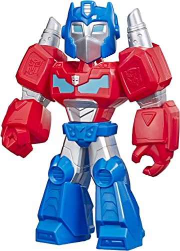 "Playskool Transformers Heroes Mega Mighties Rescue Bots Academy Optimus Prime Figure 10"" Figure, Collectible Toys fo..."