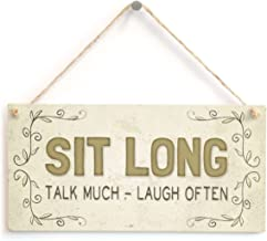 Meijiafei Sit Long Talk Much - Laugh Often - Beautiful Friendship Home Accessory Gift Sign 10