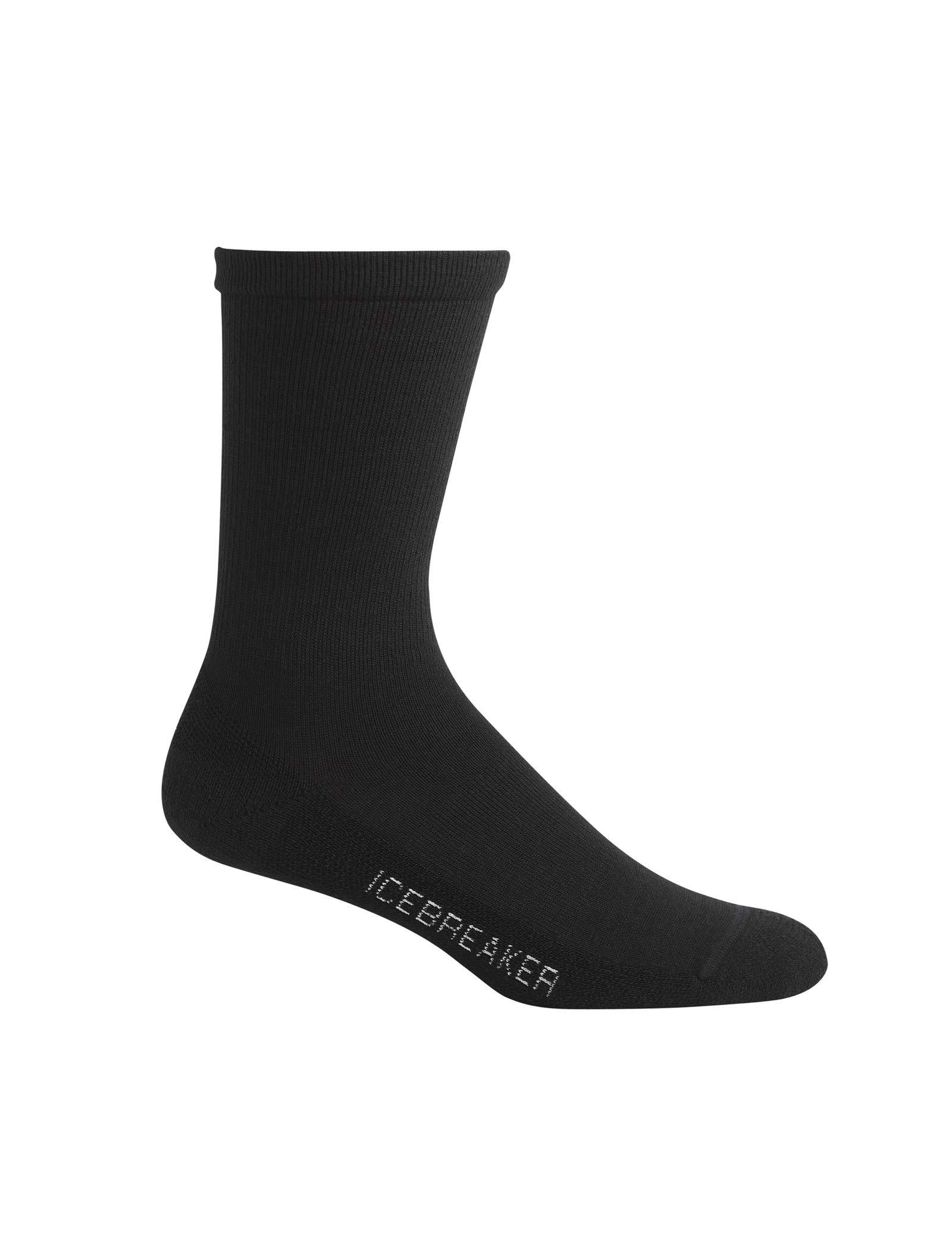 Icebreaker Herren Socken Lifestyle Ultra Light Crew, Black, L, 101285001