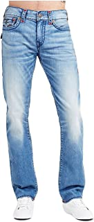 True Religion Men's Ricky Relaxed Straight Super T Jeans w/Flaps in Pale Horizon