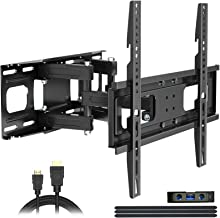 Full Motion TV Wall Mount with Height Setting, JUSTSTONE...