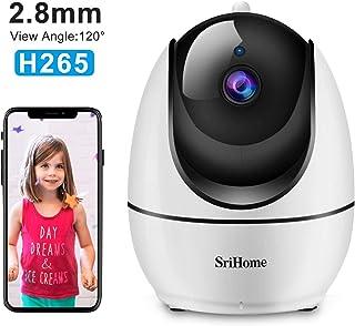 Sricam SH026 - Videocámara de vigilancia 1080P cámara WiFi Interior con Control Remoto con Audio bidireccional Sensor de Movimiento visión Nocturna versión Italiana