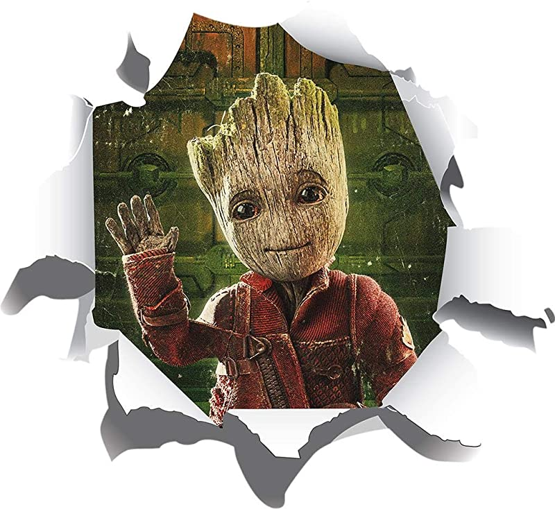 Ripped Paper Groot Decal Wall Sticker Decor Kids Marvel Movie Heroes WC225 Large