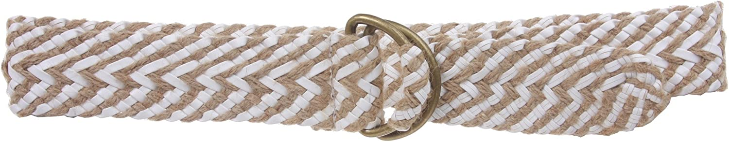 2  (50 mm) Wide D Ring Jute Braided Fashion Woven Sash Belt