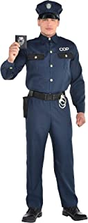 Police Officer Halloween Costume for Men, Standard, with Accessories