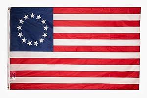 PringCor Betsy Ross Polyester Flag 3x5FT American Revolution Patriotic 13 Star