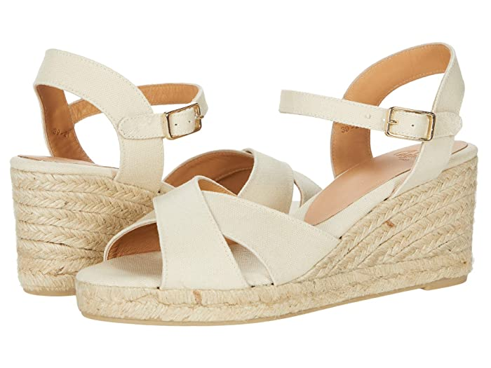 Vintage Shoes, Vintage Style Shoes CASTANER Blaudell 60 mm Wedge Espadrille Ivory Womens Shoes $145.00 AT vintagedancer.com