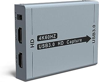 【2020最新バージョン 】ALTENG HDMI キャプチャーボード ゲームキャプチャー ビデオキャプチャー 軽量小型 USB3.0 HD1080P 60FPS PC/Switch/PS4/Xbox/PS3/携帯電話用 Windows Linux OS X対応 OBS Potplayer XSplit適用 YouTube/Twitchなどに ゲーム録画 実況 配信 ライブ会議用 (グレー)