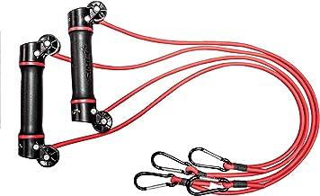 Finis Unisex Volwassenen Slide Dryland Zwemmen en Sport Training Resistance Oefenbanden met roterende handgrepen