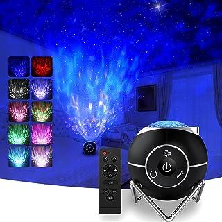 Projecteur Ciel Etoile Rechargeable,Hepside Projecteur Galaxie LED Veilleuse 15 modes avec télécommande,Veilleuse Etoile P...