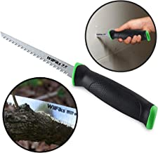 """WilFiks Razor Sharp 6.5"""" Pro Jab Saw, Drywall Hand Saw, Perfect For Sawing, Trimming, Gardening, Pruning & Cutting Wood, Wallboards & More, Comfortable Ergonomic Non-Slip Handle, Has A Sharpened Tip"""