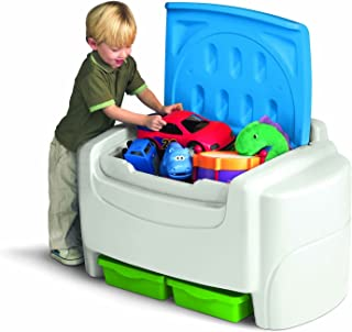 White Sort 'N Store Toy Storage Box with Lid Containers and Chest Organizer Bins for Kids Pet Toys,books,cars and Accessories!