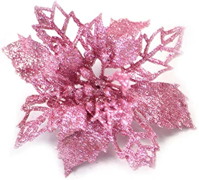 10pcs Artificial Hollow Flowers Wedding Christmas Valentine/'s Day Decorations