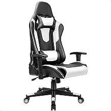 BASETBL Ergonomische Gamingstoel, Computerstoel Racing Stoel Draaistoel, Bureaustoel met Verstelbare Armleuning, Hoofdsteu...