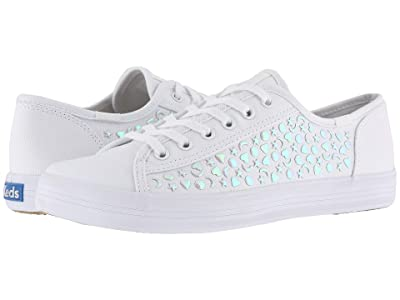 Keds Kickstart Iridescent Stud (White Canvas) Women