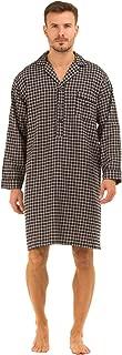 Haigman Men's Printed Brushed Cotton Nightshirt Nightwear Lounge