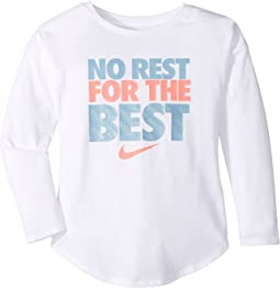 Nike Kids - No Rest For The Best Long Sleeve Tee (Little Kids)