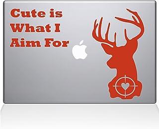 "The Decal Guru Deer Hunting Macbook Decal Vinyl Sticker  - 15"" Macbook Pro (2016 & newer) - Orange (1246-MAC-15X-P)"