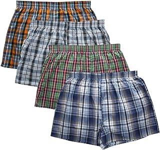 TYML, Nuevos Pantalones de Flecha a Cuadros clásicos para Hombre, Marca de Moda Casual, Boxer, 4 Piezas/Lote para Hombre, Boxers de algodón, Ropa Interior para Hombres
