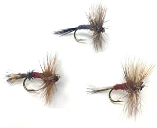 Feeder Creek Fly Fishing Trout Flies - The WULFF Assortment - Two Dozen Dry Flies - 4 Size Assortment 12,14,16,18 (2 of Each Size and Pattern) Royal Wulff, Ausable Wulff, and Adams Wulff