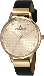 Daniel Klein Women's Quartz Watch, Analog Display and Leather Strap DK12039-2