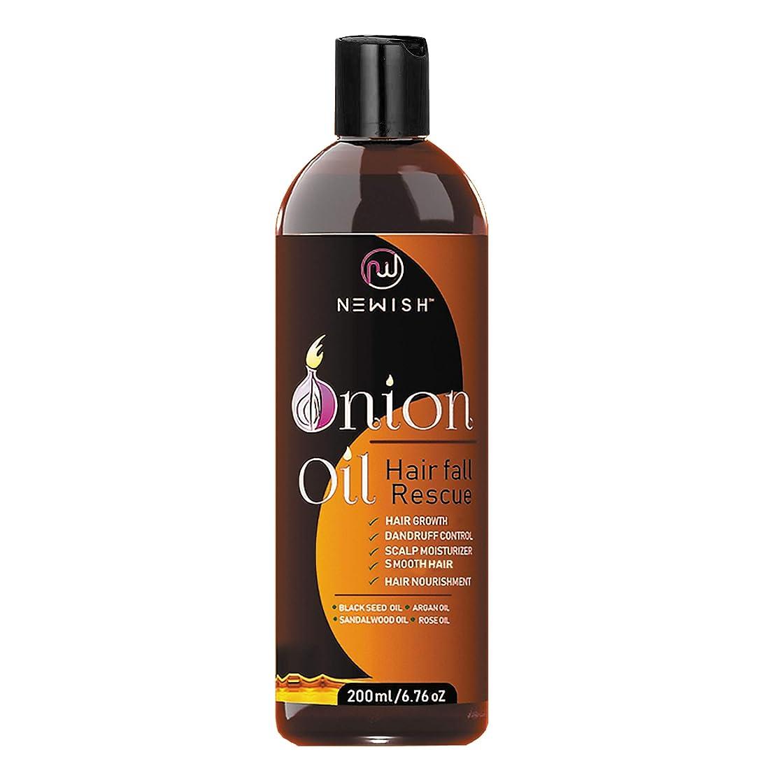 ラテンみがきます付き添い人Newish Red Onion Oil for Hair Regrowth Men and Women, 200ml