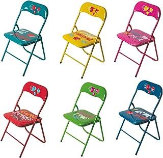 Galileo Casa Juego de 6 sillas Plegables de Acero y PVC, Surtidas, Medidas de la Silla: 43,5 x 44 x 79 cm
