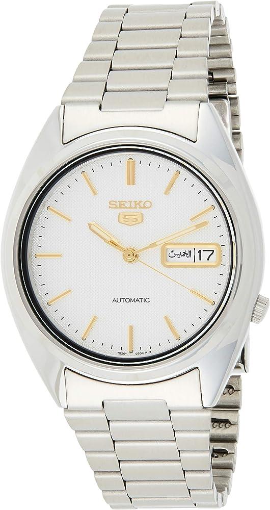 Seiko, orologio automatico per uomo,in acciaio inossidabile SNXG47