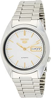 Seiko Men's SNXG47 Seiko 5 Automatic White Dial Stainless Steel Watch