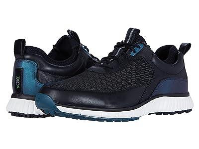 Johnston & Murphy XC4(r) Golf H1-Sport Hybrid Sneaker (Black Mesh/Waterproof Full Grain) Men