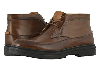 Stacy Adams Alcander Moc Toe Chukka Boot (Cognac) Men