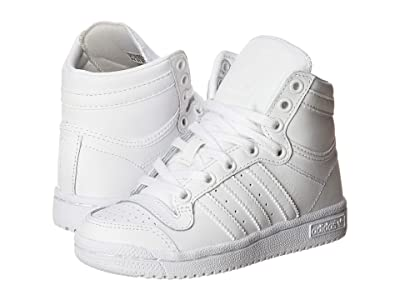 adidas Originals Kids Top Ten Hi (Little Kid) (White/White) Kids Shoes