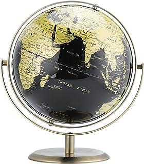 کره زمین ، 8 اینچ/20 سانتیمتر ، آموزش/جغرافیا/دکوراسیون منزل-طلای سیاه لوکس-فلزی دو محوره چرخش انعطاف پذیر 720 درجه-مناسب برای کودکان ، خانه ها و ادارات (با قطر 8 اینچ).
