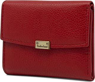 Timberland Women's Leather RFID Small Indexer Snap Wallet Billfold